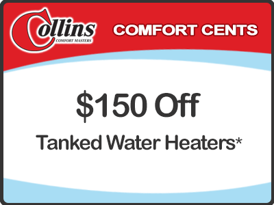 $150 Off Tanked Water Heaters