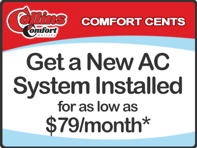 Get a New 3-Ton AC System for as low as $79/month